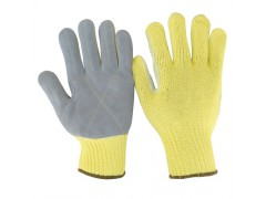 Kevlar gloves with premium cow leather palm