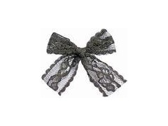 Sexy Lace Mini Ribbon Bows 4 level Color Fastness OEM acceptable