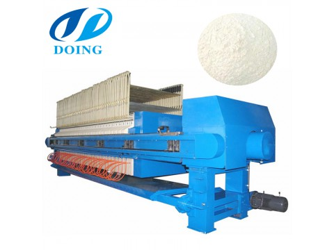 Large capacity plate frame filter press for cassava flour dewatering