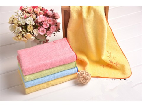 Embroidered beauty towel